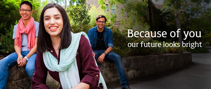 Because of you, our futures look bright